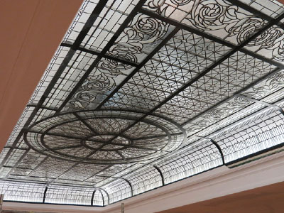 DECORATIVE CEILING STAINED GLASS, BADEN-BADEN, GERMANY, REALIZATION 2016