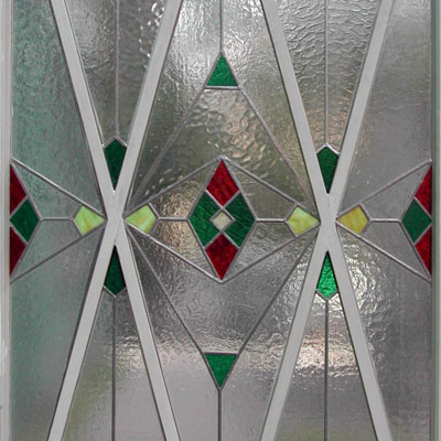 GEOMETRIC STAINED GLASS IN THE CUBIST STYLE, 85x170 cm, 2010