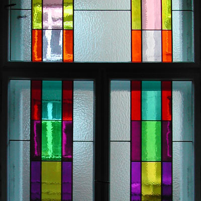 GEOMETRIC STAINED GLASS, 2002